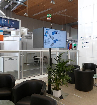 Messe Hannover 2013 - Altra (back to back Monitorständer)